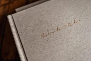 Album de boda lino natural Svobodova Barcelona
