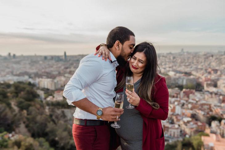Pedida de mano sorpresa Barcelona fotografo bodas Svobodov