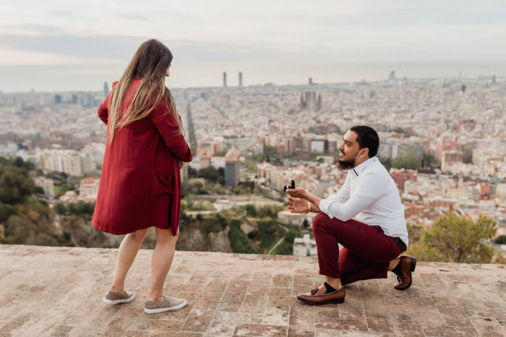 Surprise Proposal Barcelona Photographer Anna Svobodova