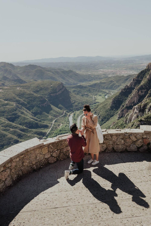Surprise Proposal Svobodova Photographer Barcelona Montserrat