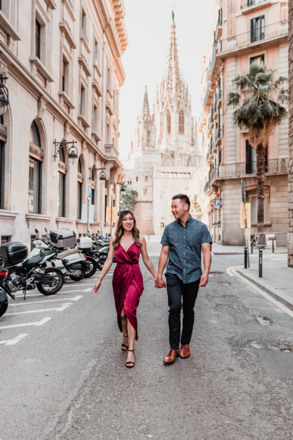 Barcelona Lovestory Engagement Photographer Anna Svobodova
