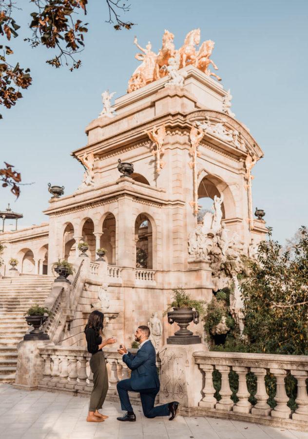 Surprise Proposal Barcelona Ciutadella Park