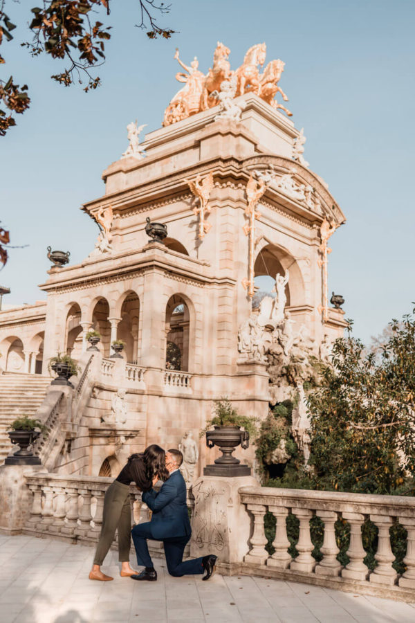 Surprise Proposal Barcelona Ciutadella Park
