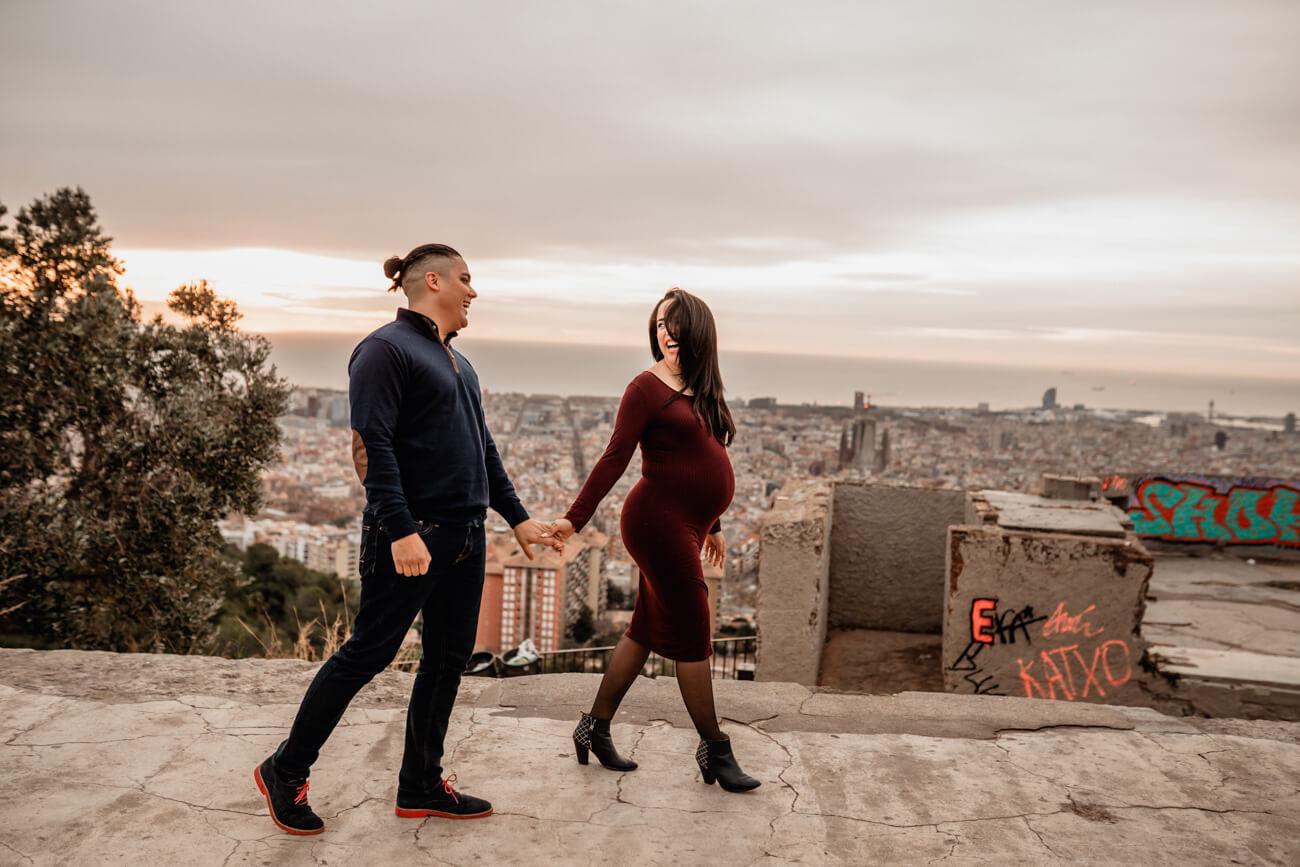 Best Pregnancy Couple Photo Barcelona Svobodova