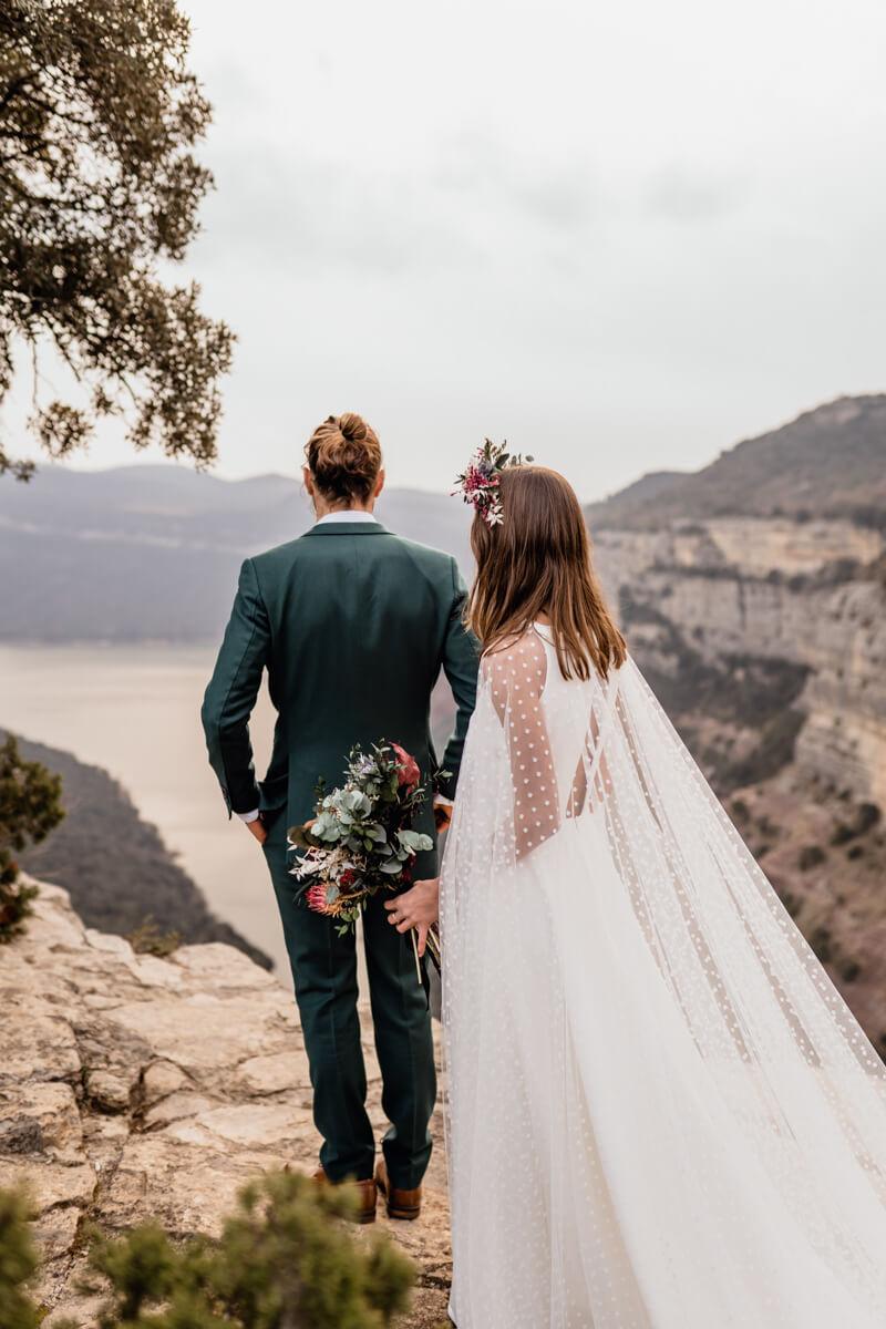 Mountain Elopement Wedding Spain Barcelona